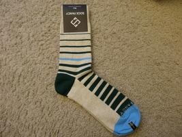 Sock Fancy Green Striped Socks