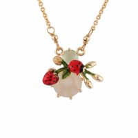 Les Nereides Ladybird and Strawberry Necklace