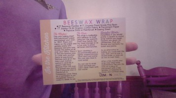 Beeswax Wrap Recipe/direction card