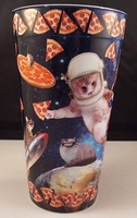 Cat in Space and Pizza in Space Set of 2 Tumblers
