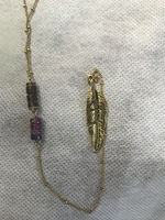 Elly Preston Peace Necklace - Bombay Cedar