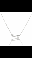 Melinda Maria safety pin necklace