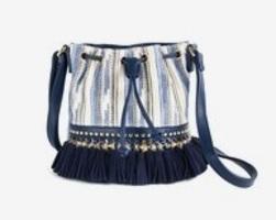 Handbag Tassel Bucket Bag Blue
