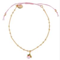 Les Nereides Charm Bracelet Pink Flower