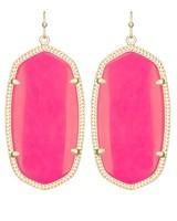 Kendra Scott Hot Pink & Gold Danielle Earrings