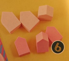 House shaped makeup sponges