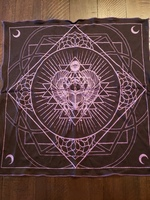 Access our eyes scarab altar cloth