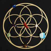 Seed of Life Crystal Grid & 7 Stone Chakra Set