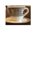 Globein Hand Painted Teacup and Saucer