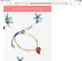 Les Neiredes poppy bracelet