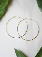 Jules Smith - Suki Hoops - gold hoop earrings from Bijoux Box