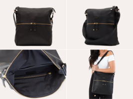 Kiko Leather Zip Tote BLACK