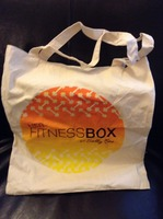 Her Fitness Box canvas tote