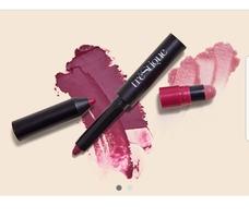 TRÈSTIQUE Matte Color + Shiny Balm Lip Crayon in Belize Bordeaux & Grenache Balm