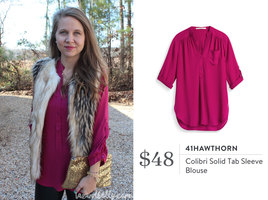 Stitch Fix 41 Hawthorne Colibri Blouse
