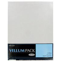 Silver Metallic Vellum Paper Pack 10 Sheets