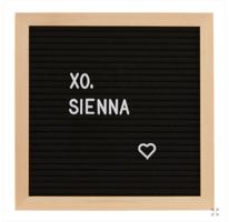 xo, Sienna Black Felt Letter Board