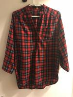 Fun2Fun Plaid 3/4 Sleeve Top