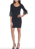 French Connection Black Mesh Lula Cocktail Dress