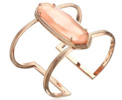 Kendra Scott Lawson Cuff Bracelet-Rose Gold Peach Illusion