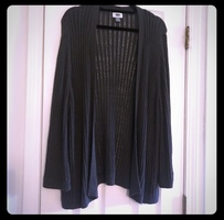 Charcoal Semi Sheer Cardigan