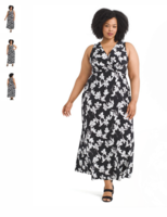 Gilli black and white floral maxi dress medium