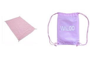 Sand Free Beach Mat with Carrying Bag by Waloo