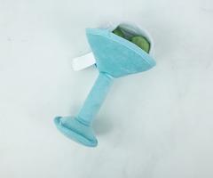 Shaken Not Furred Martini Glass Dog Toy