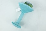 Shaken Not Furred Martini Glass Dog Toy