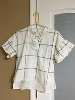 Plaid high low shirt