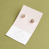 Wrenn Jewelry The Becki Studs in Rose Druzy