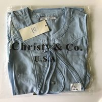 Christy & Co Blue Peplum Top