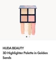 Huda Beauty 3D Highlighter Palette in Golden Sands