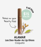 ALAMAR Las Des-Nude-As Lip Gloss Coqueta