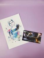Doctor Who Rose art print