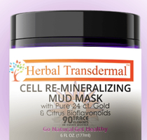Herbal Transdermal Cell Re-Mineralizing Mud Mask with Pure 24K gold and citrus bioflavonoids