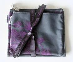 BeautyFIX Cosmetic Bag Duo Plum Floral Print