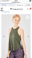 Olivia draped muscle tank XXL