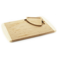 Natural Home Bamboo Cutting Board with Liftout Tray