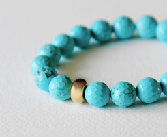Nest Turquoise Bead Stretch Bracelet