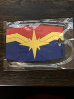 Captain Marvel Rubber Luggage Tag