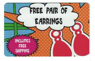 Free earrings with new subscription