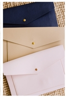 Glass Ladder & Co. Megan Portfolio Clutch in Blush Pink, Navy Blue and Natural Beige