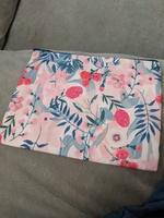Floral canvas pouch
