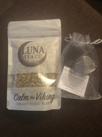 Luna calm the viking loose herbal tea and tea ball with crystal