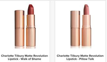 Charlotte Tilbury Matte Revolution Lipstick in Walk of Shame or Pillow Talk