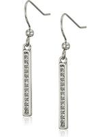 Karen Kane Karen Kane Linden Paks Pave Bar Silver Tone Earrings