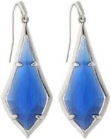 Kendra Scott Olivia Earrings in Rhodium/Navy