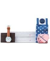 Sprezza Men's Pink & Blue Stripe Tie