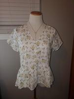 Fun2Fun Floral Peplum Shirt